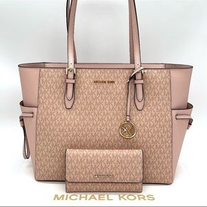 Michael Kors Gilly Lg Tote & Trifold Wallet Ballet
